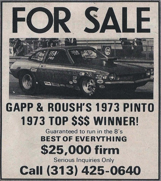 1974 April For Sale Gapp  Roush